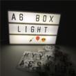 Lightbox-világító szövegdoboz