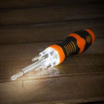 Handy Csavarhúzó beépített LED-del, 5 bitfejjel