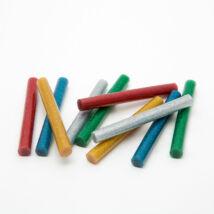 Ragasztórúd - 11 mm - színes, glitteres