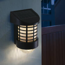 LED-es szolár fali lámpa