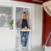 Szúnyogháló függöny ajtóra (puszis)