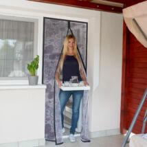 Szúnyogháló függöny ajtóra (pillangós, lila)