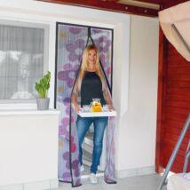 Szúnyogháló függöny ajtóra (virágos)