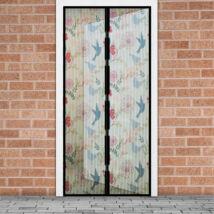 Szúnyogháló függöny ajtóra (madár mintás)