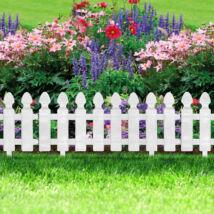 Virágágyás szegély/kerítés (fehér) 10 darab/csomag