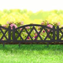 Virágágyás szegély/kerítés (fekete, rombusz)