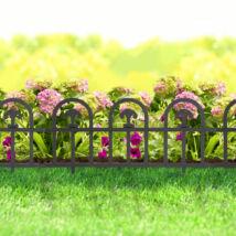 Virágágyás szegély/kerítés (fekete, boltív)