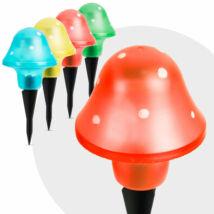 LED szolár gombalámpa 12 db
