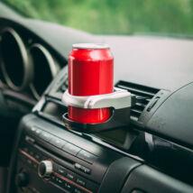 Szellőzőrácsra rögzíthető autós italtartó