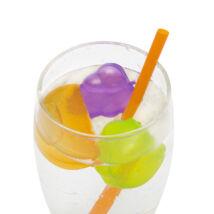 Színes, gyümölcs alakú jégkocka szett, 15 db / szett
