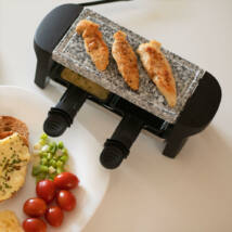 Mini raclette grillsütő természetes kőlappal