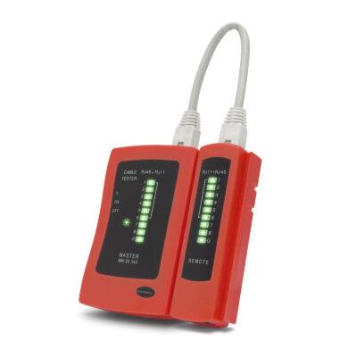 Kábeltesztelő műszer (RJ11, RJ12, RJ45) - 25340