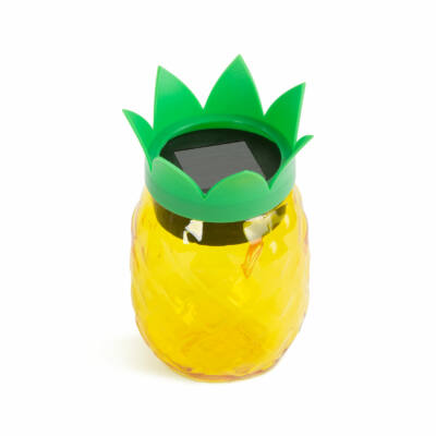 LED-es szolár lámpa - ananász