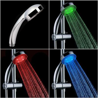 Hőre színváltó LED zuhanyfej