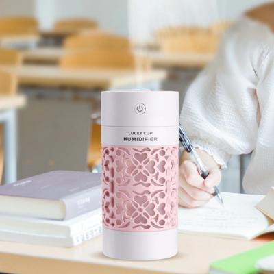 Hordozható párásító - aromaterápiás párologtató LED világítással