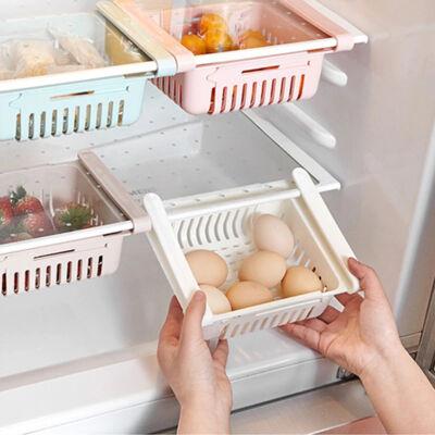 Méretezhető rendszerezőkosár hűtőbe