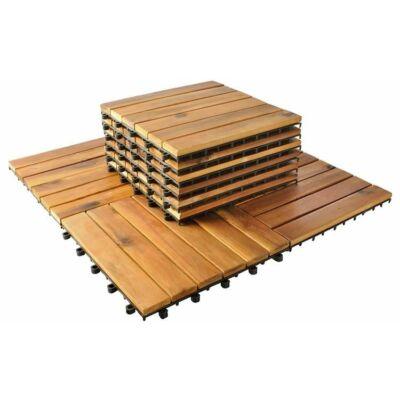 10 darabos járólap szett - akácia fából