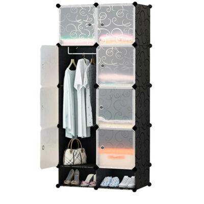 Moduláris szekrény amit bárhogyan alakíthatsz (8 rekeszes)