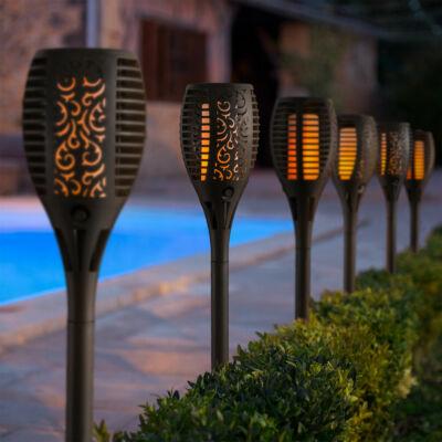 Lángokat imitáló szolár LED lámpa