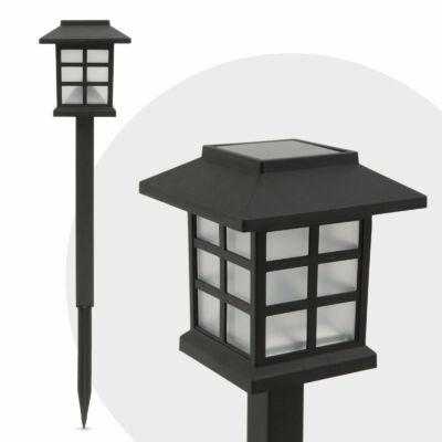 Leszúrható LED szolár lámpa (házikó) 12 db