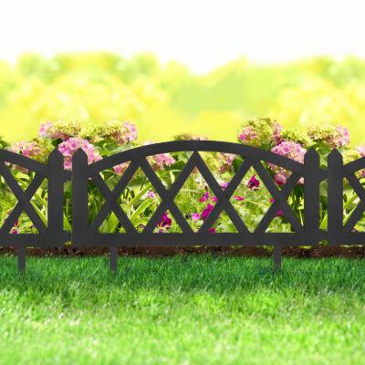 Virágágyás szegély/kerítés (fekete, rombusz) 10 darab/csomag