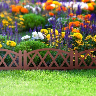 Virágágyás szegély/kerítés (barna, rombusz) 10 darab/csomag