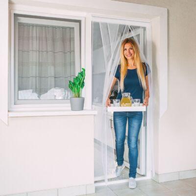 Szalagos szúnyogháló függöny ajtóra (fehér)
