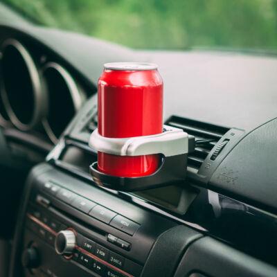 Autós italtartó szellőzőrácsba